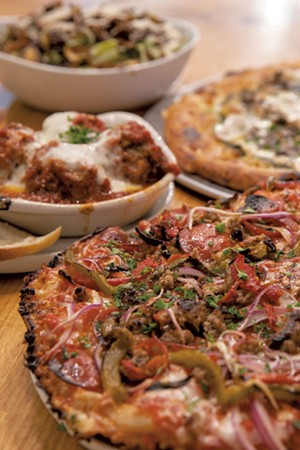 Pepperoni-and-sausage thick crust and more at Pizza 44 - JAMES BUCK