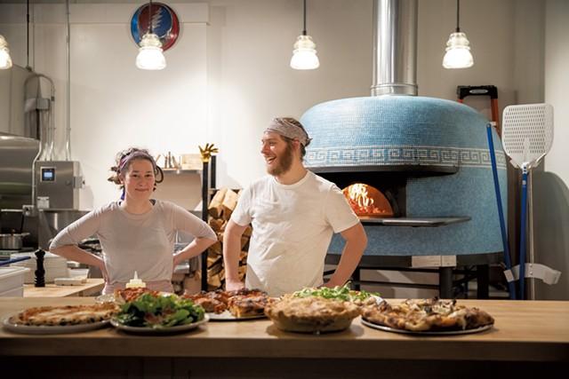 Owners Erika Strand and Dan Pizzutillo at Pizzeria Ida - JAMES BUCK