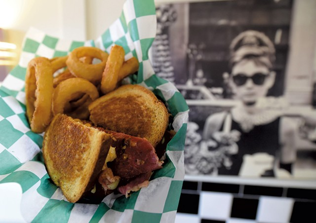 Reuben and onion rings at the Depot Street Malt Shop - JEB WALLACE-BRODEUR