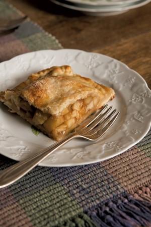 Duck-fat caramelized apple tart - CALEB KENNA