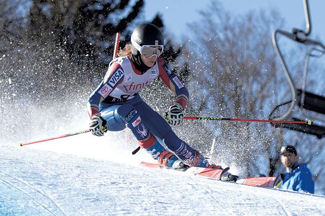 Resi Stiegler at the Xfinity Killington World Cup - COURTESY OF REESE BROWN