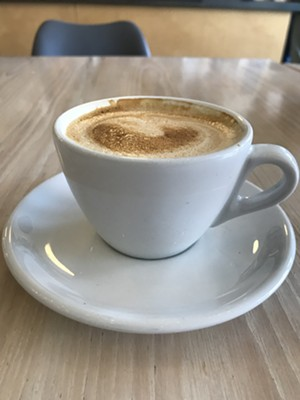Cappuccino at Vergennes Laundry by CK - SALLY POLLAK