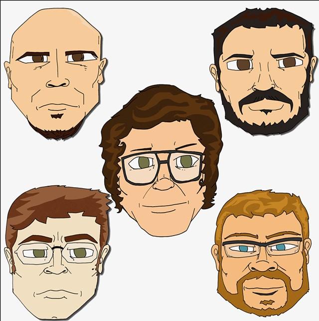 Clint Bierman, Steve Hadeka, Joshua Panda, Andrew Moroz and Alex Budney - COURTESY PHOTO