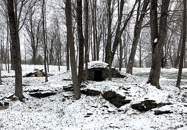 Stone structure on the property - KIRK KARDASHIAN