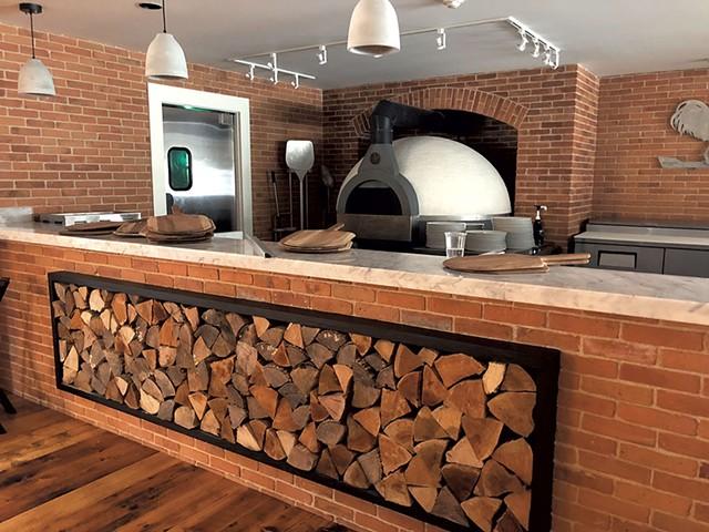 Pizza oven at the inn - KIRK KARDASHIAN