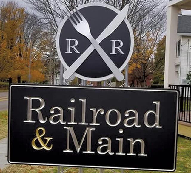 New Railroad & Main signage - COURTESY OF RAILROAD & MAIN