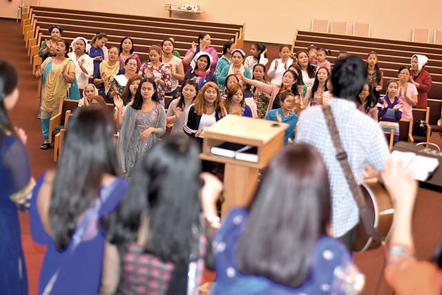 Grace United Church congregation - COURTESY OF BUDDHA RAI