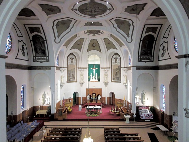 View of St. Mary from the choir loft - COURTESY OF AMY LILLY
