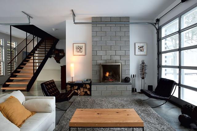Living area with prints by Bill Davison - BEAR CIERI