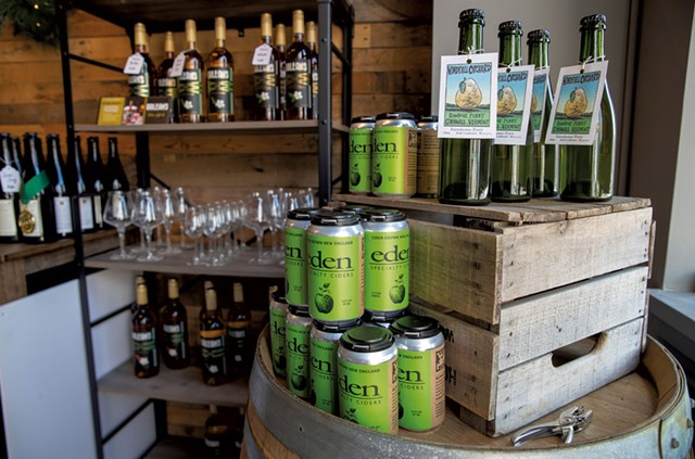 Cider display in the taproom - JAMES BUCK