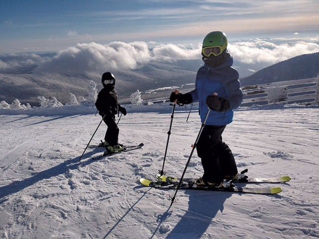 Rex and Zane del Pozo at Jay Peak - COURTESY OF BRANDON DEL POZO