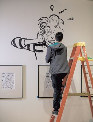 Alison Bechdel painting - COURTESTY PHOTO