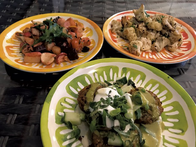 Dishes at the Hippie Chickpea - FILE: SALLY POLLAK