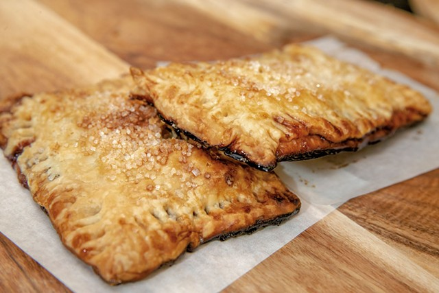 Blueberry hand pies at Willow's Bagels - FILE: JAMES BUCK