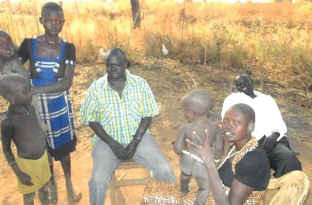Silic Yiel Nai (center) in South Sudan, 2016
