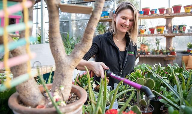 Gardener's Supply greenhouse associate Ellen Bortner - JAMES BUCK