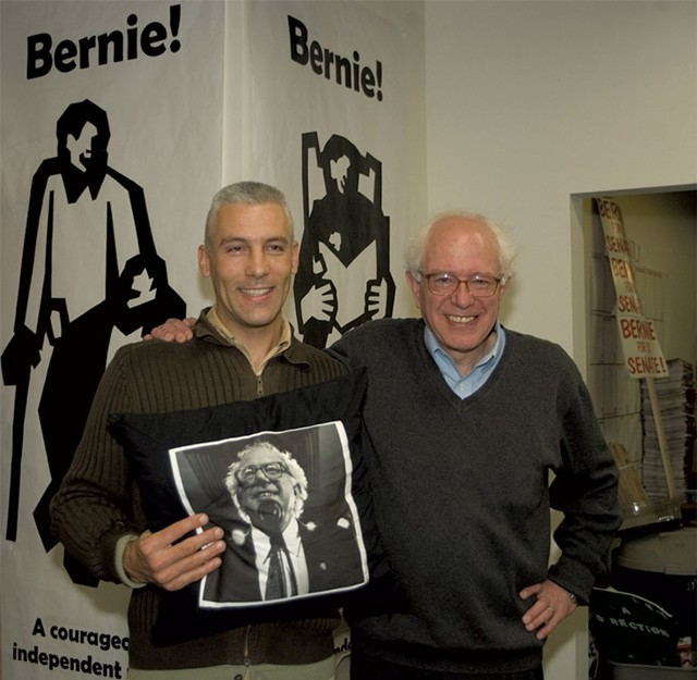 Matt and Sen. Bernie Sanders - COURTESY PHOTO