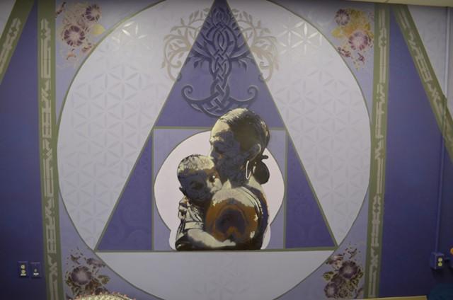The mural depicting Maddie Linsenmeir - KATIE JICKLING