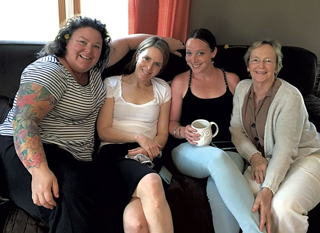 From left: Maura O'Neill, Kate O'Neill, Madelyn Linsenmeir and Maureen Linsenmeir - COURTESY OF KATE O'NEILL