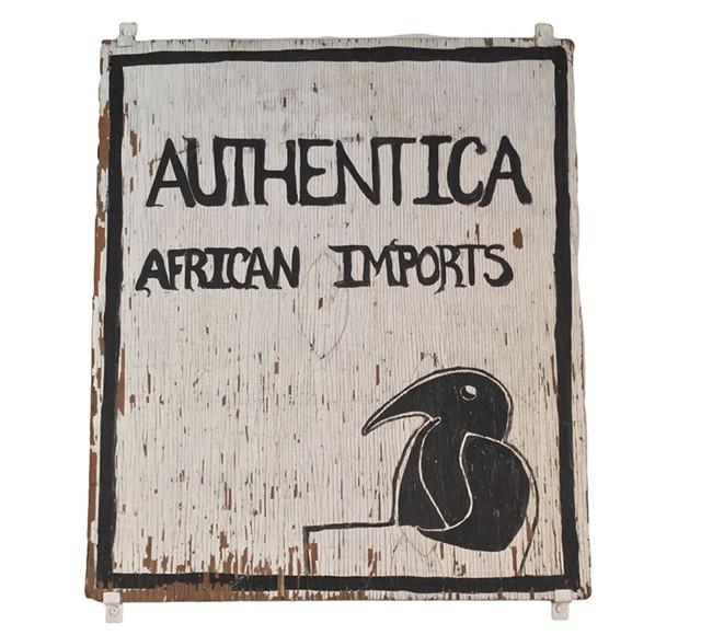 Authentica shop sign - RACHEL ELIZABETH JONES