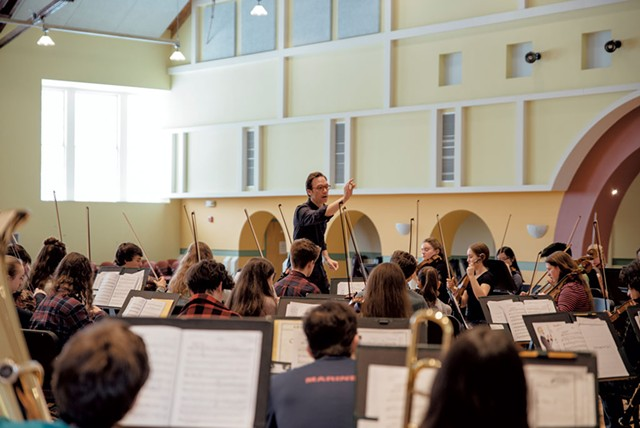 VYOA rehearsing with Klemme at the Elley-Long Music Center
