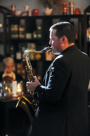 Sax player at the Brandon Music Café - VYTO STARINSKAS