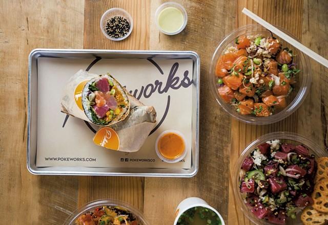 Burrito and grain bowls at Pokéworks - COURTESY OF POKÉWORKS
