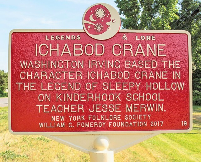 A Legends & Lore marker in New York state - COURTESY OF THE VERMONT FOLKLIFE CENTER