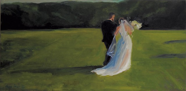 Hope Sharp wedding painting - COURTESY OF HOPE SHARP