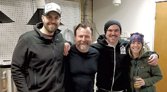 From left: Steve Parker, Craig Isvak, Brett Seymour and Jen Fleckenstein at Collaborative Brewing - COURTESY OF COLLABORATIVE BREWING