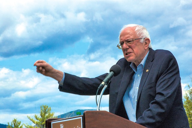 Sen. Bernie Sanders campaigns in New Hampshire in May 2015. - FILE: MORIAH HOUNSELL