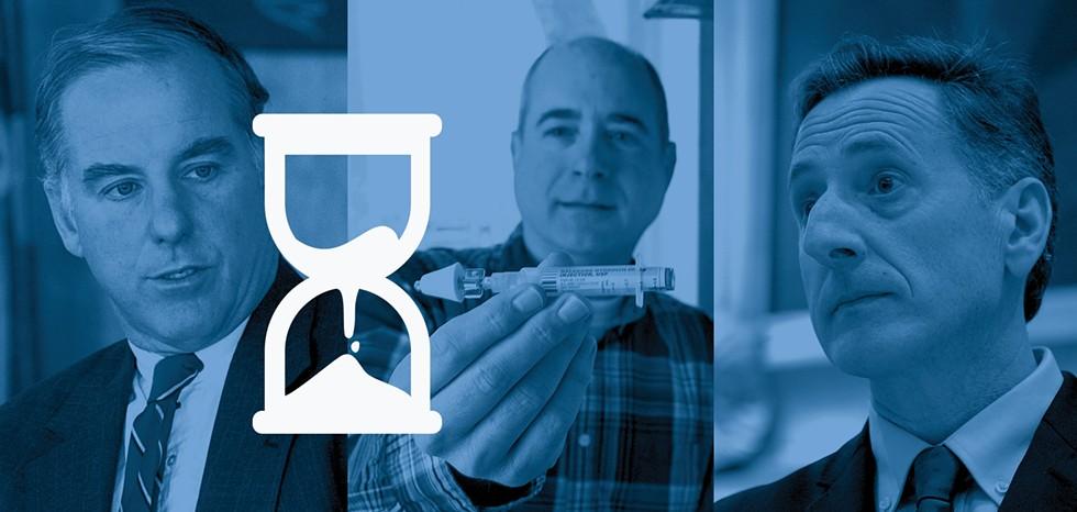 Howard Dean, Tom Dalton, Peter Shumlin - JEB WALLACE-BRODEUR / JAMES BUCK / JEB WALLACE-BRODEUR