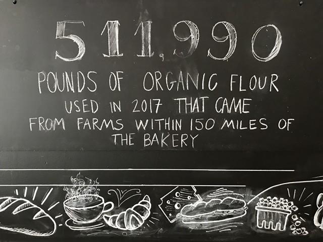 Blackboard at Red Hen Baking Co. - SALLY POLLAK