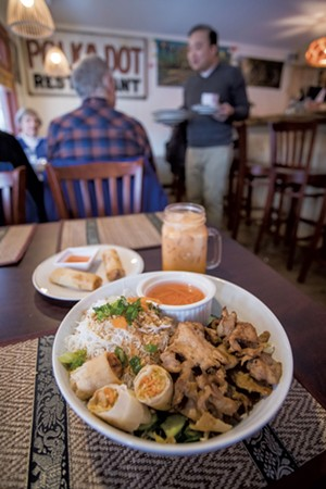 Thai iced tea, summer rolls and Vietnamese vermicelli noodles with pork - TOM MCNEILL