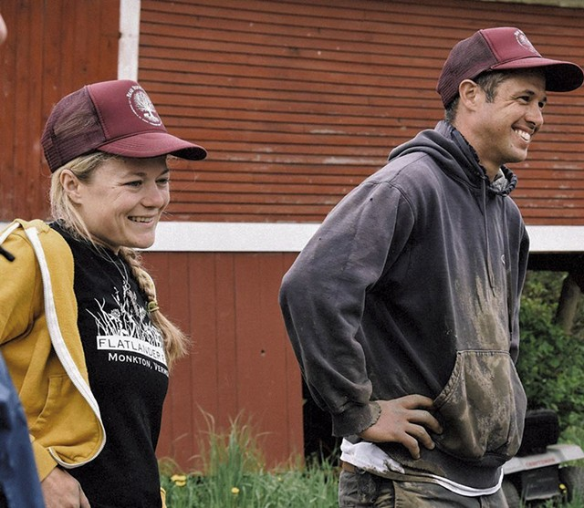 Karin Bellemare and Jon Wagner of Bear Roots Farm - COURTESY OF BEAR ROOTS FARM