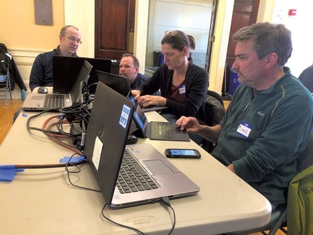 Participants working at Open Data Day - ERIK ESCKILSEN