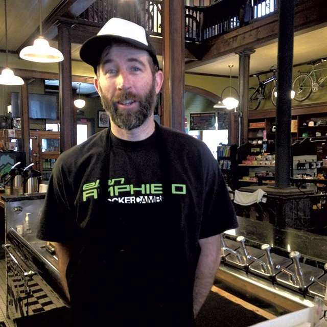 David Bott, owner of the Blue Bike Café - MOLLY WALSH