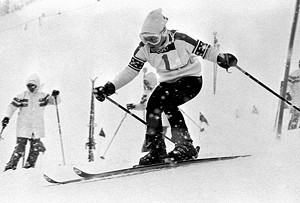 Gold medal winner Barbara Ann Cochran at the 1972 Winter Olympics in Sapporo, Japan