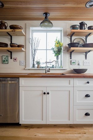 The renovated kitchen at the home of Graham and Cayenne MacHarg - OLIVER PARINI