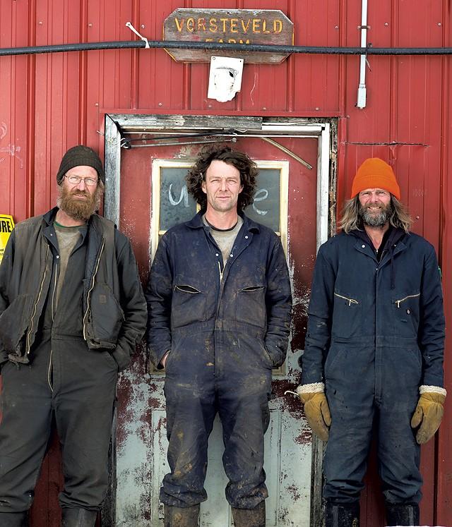 From left: Gerard, Rudy and Hans Vorsteveld - CALEB KENNA
