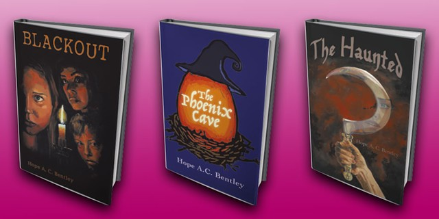 Blackout by Hope A.C. Bentley, The Phoenix Cave by Hope A.C. Bentley, and The Haunted by Hope A.C. Bentley