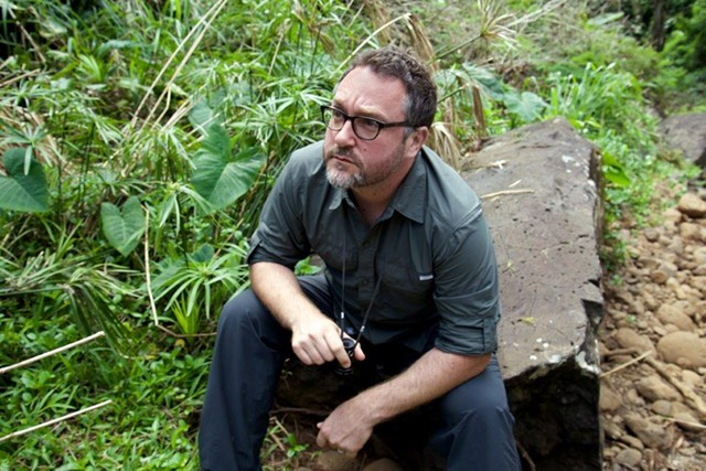 Colin Trevorrow on the set of Jurassic World - COURTESY OF NBCUNIVERSAL