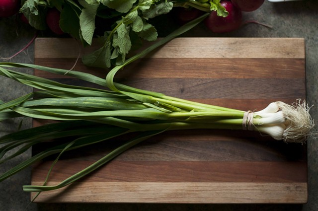 Green garlic is much milder than mature garlic. - HANNAH PALMER EGAN