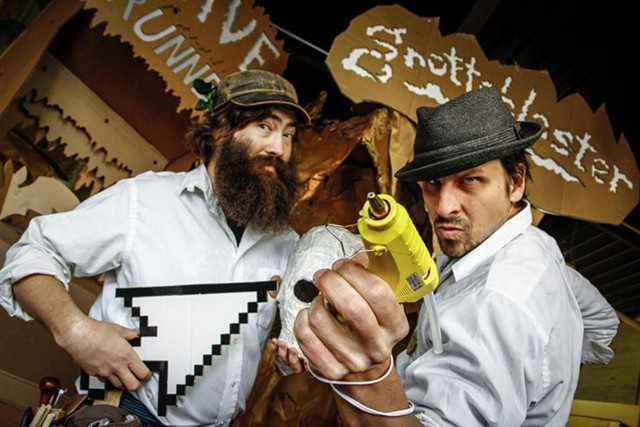 Pete Talbot (left) and Ben t. Matchstick of the Cardboard Teck Instantute - RAYCHEL SEVERANCE