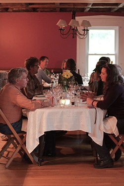 In the dining room at Agricola Farm - HANNAH PALMER EGAN