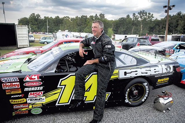 Then-lieutenant governor Phil Scott in August 2016, when Casella sponsored his racecar - FILE: JAMES BUCK