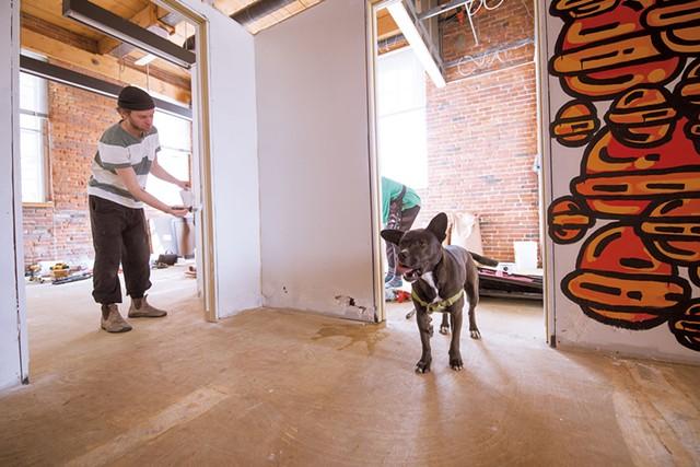 """Artist prepping mural for """"Time Kills Art"""" - LUKE AWTRY"""