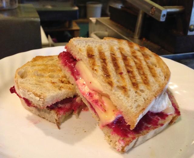 Clover Mead Café's Apple-Camembert Panini - STACEY BRANDT
