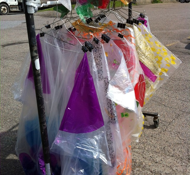 Kate Donnelly's rack of ponchos - COURTESY OF KATE DONNELLY