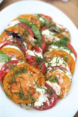 Heirloom tomato salad - ABBY LECHTHALER